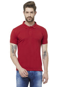 Premium Slim Fit PQ Polo T-Shirt - Red
