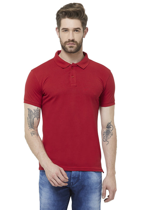 Premium PQ Polo T-Shirt - Red