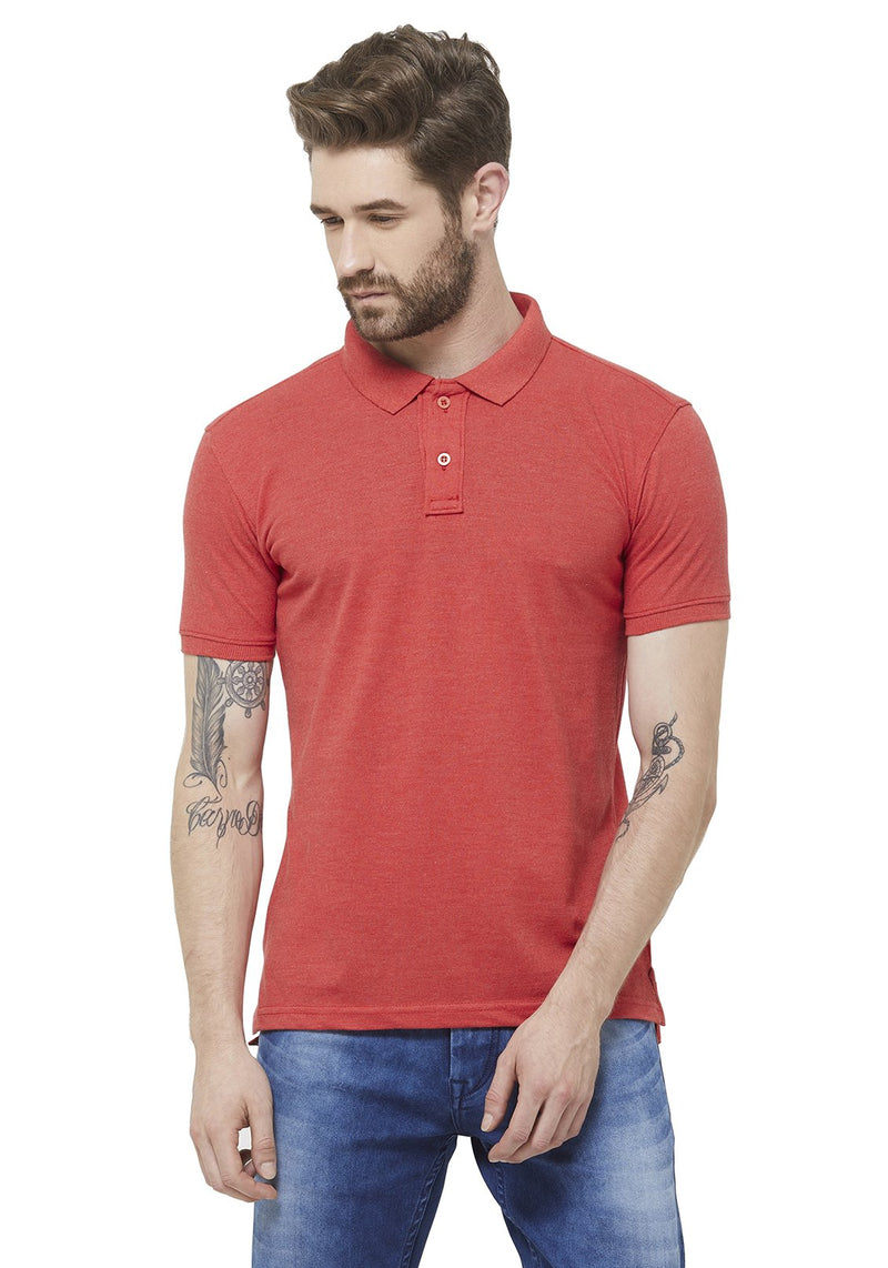 Premium PQ Polo T-Shirt - Rose Mel