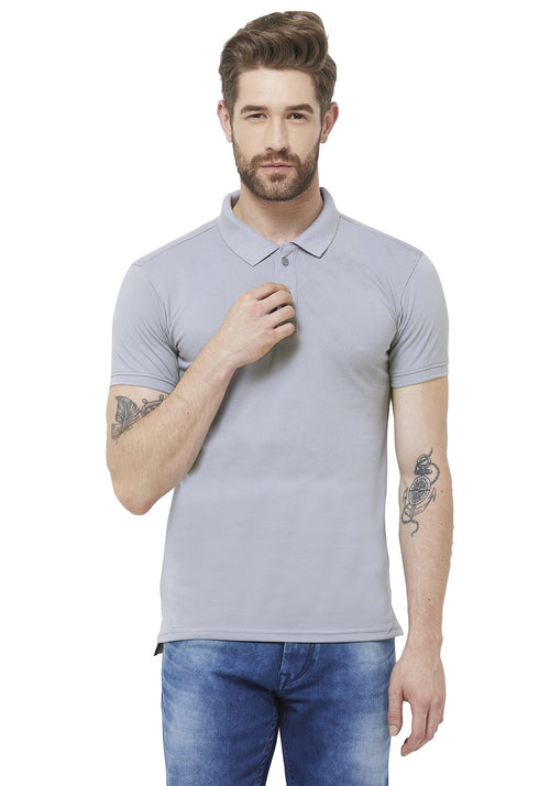 Premium PQ Polo T-Shirt - Soft Blue