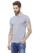 Premium Slim Fit PQ Polo T-Shirt - Soft Blue
