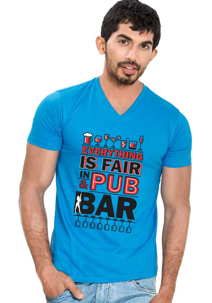 Pub and Bar V Neck T-shirt