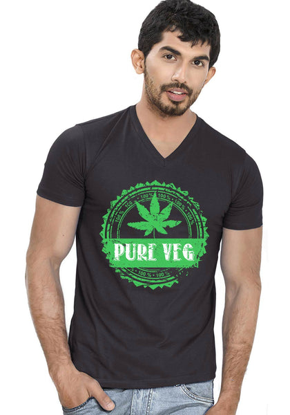 Pure Veg V Neck T-shirt
