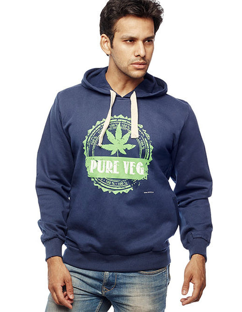 Pure Veg Sweatshirt - Wear Your Opinion - WYO.in  - 1