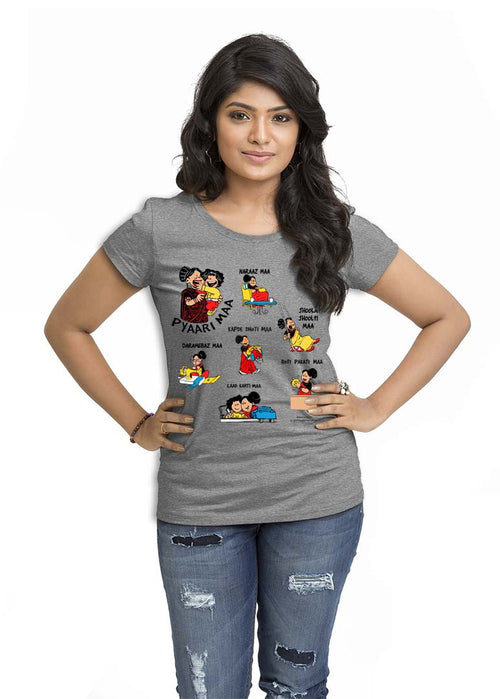 Pyaari Maa Women TShirt - Wear Your Opinion - WYO.in  - 3