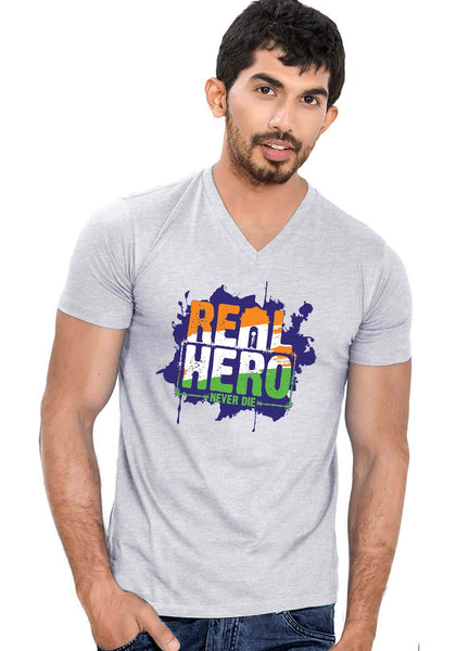 Real Hero V Neck T-Shirt