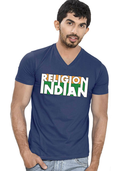 Religion Indian V Neck T-Shirt