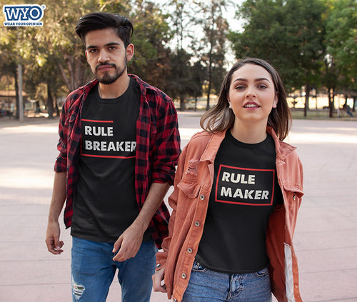 Rule Maker Rule Breaker Brother Sister Tees
