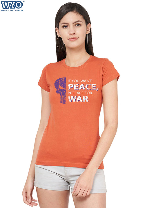 War & Peace Punisher Women Tshirt