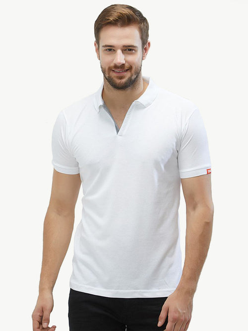 Basic PQ Polo T-Shirt - White