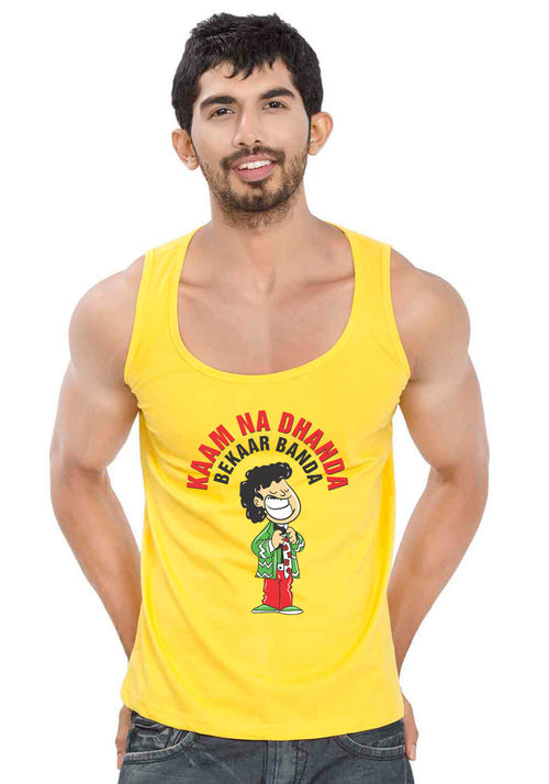 Faizzy Bhai Sleeveless T-Shirt
