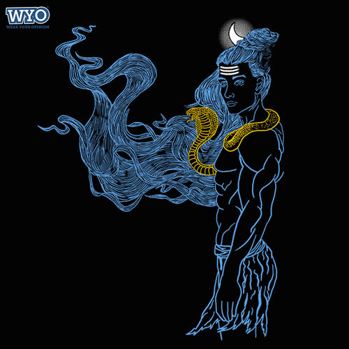 Shiva Smoke Effect T-Shirt