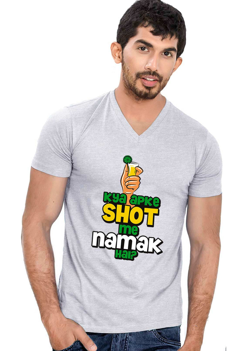 Shot Me Namak V Neck T-shirt