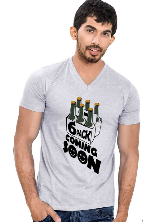 Six Packs V Neck T-shirt