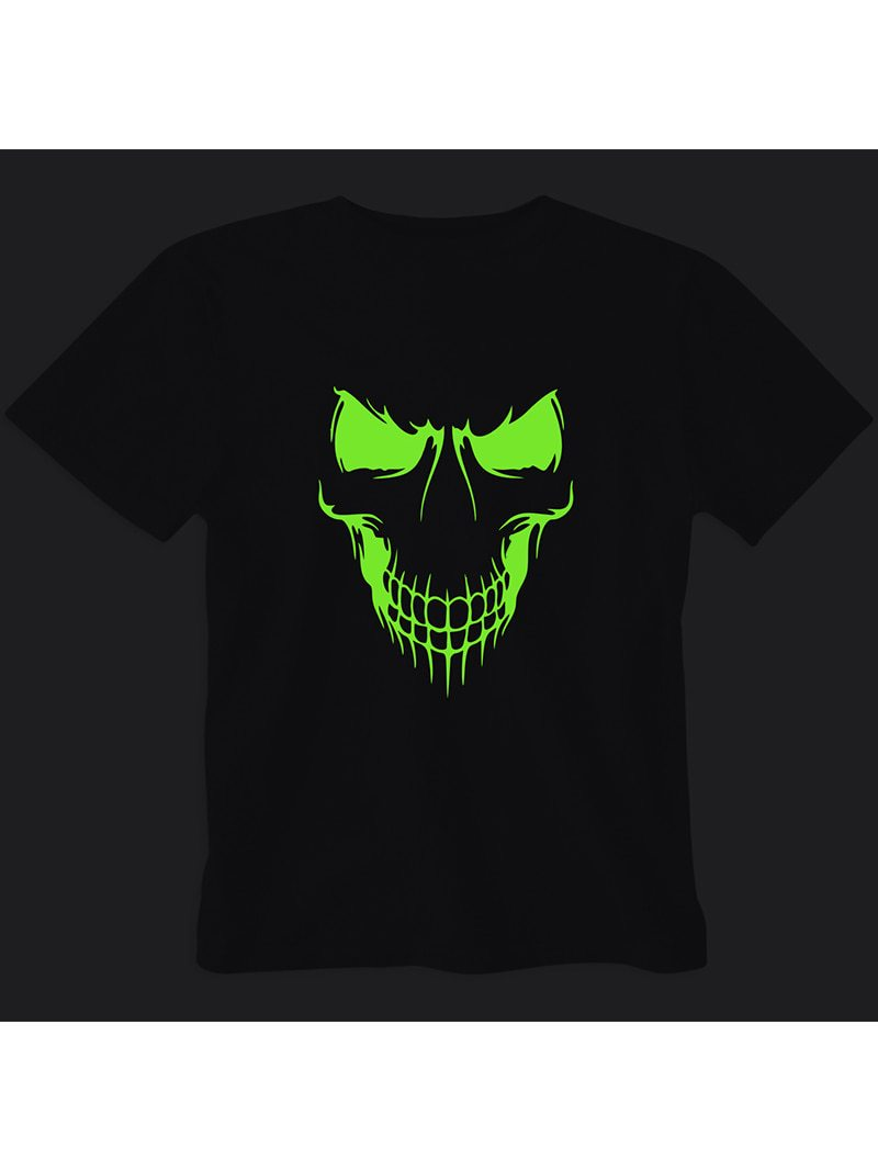 Skull Glow In Dark T Shirt Wear Your Opinion Wyo In