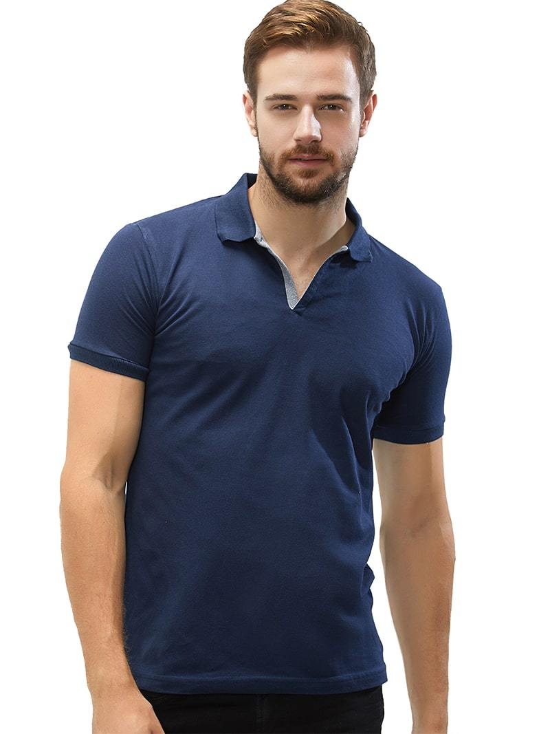91c35063e Navy Polo Collar T-Shirt For Men – Wear Your Opinion - WYO.in
