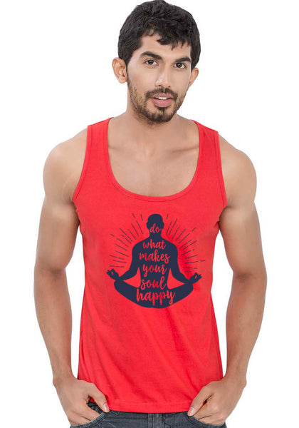 Soul Happy Sleeveless T-Shirt - Wear Your Opinion - WYO.in  - 1
