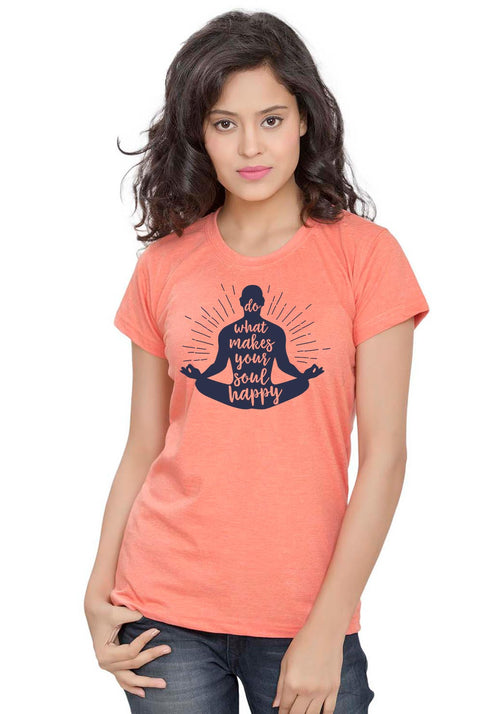 Soul Happy Women TShirt - Wear Your Opinion - WYO.in  - 1