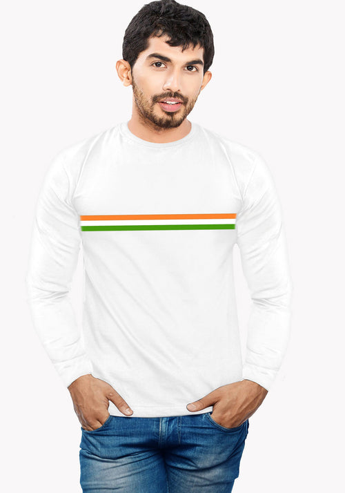 Men Tri Colour Round Neck Full Sleeve T-Shirt - Wear Your Opinion - WYO.in  - 1