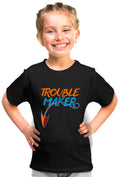 Trouble Maker Kid'S Tshirt - Wear Your Opinion - WYO.in  - 2