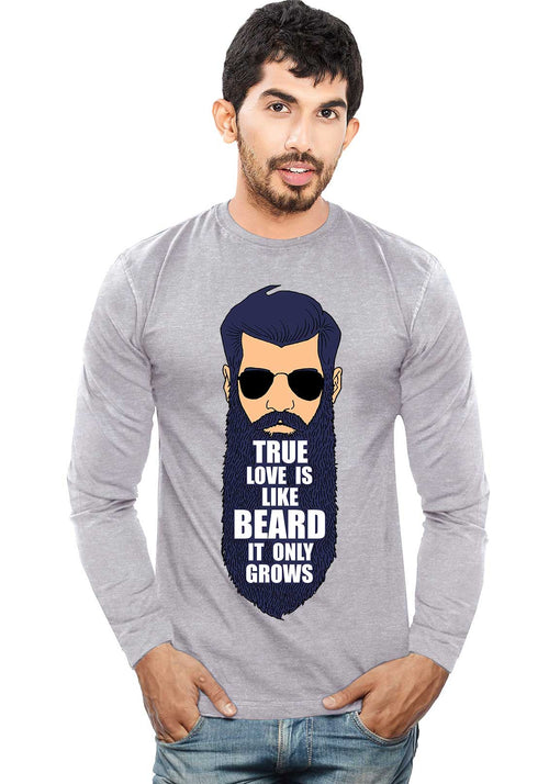True Love Beard - Full Sleeve - Wear Your Opinion - WYO.in  - 1