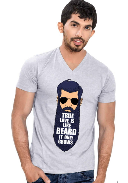 True Love Beard V Neck T-shirt