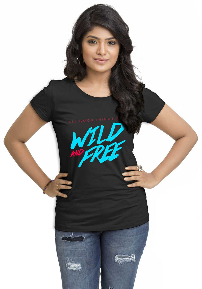Wild Women'S TShirt - Wear Your Opinion - WYO.in  - 1