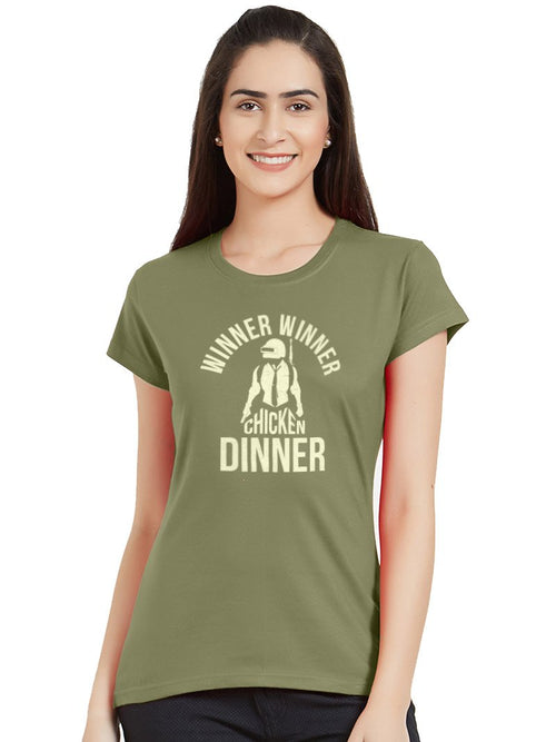 Chicken Dinner Women T-Shirt