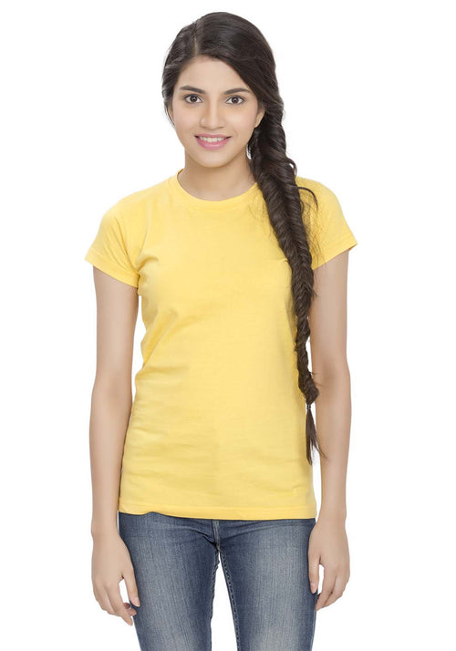 Plain Women's Tshirt - Yellow