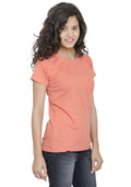 Plain Women's Tshirt - Peach