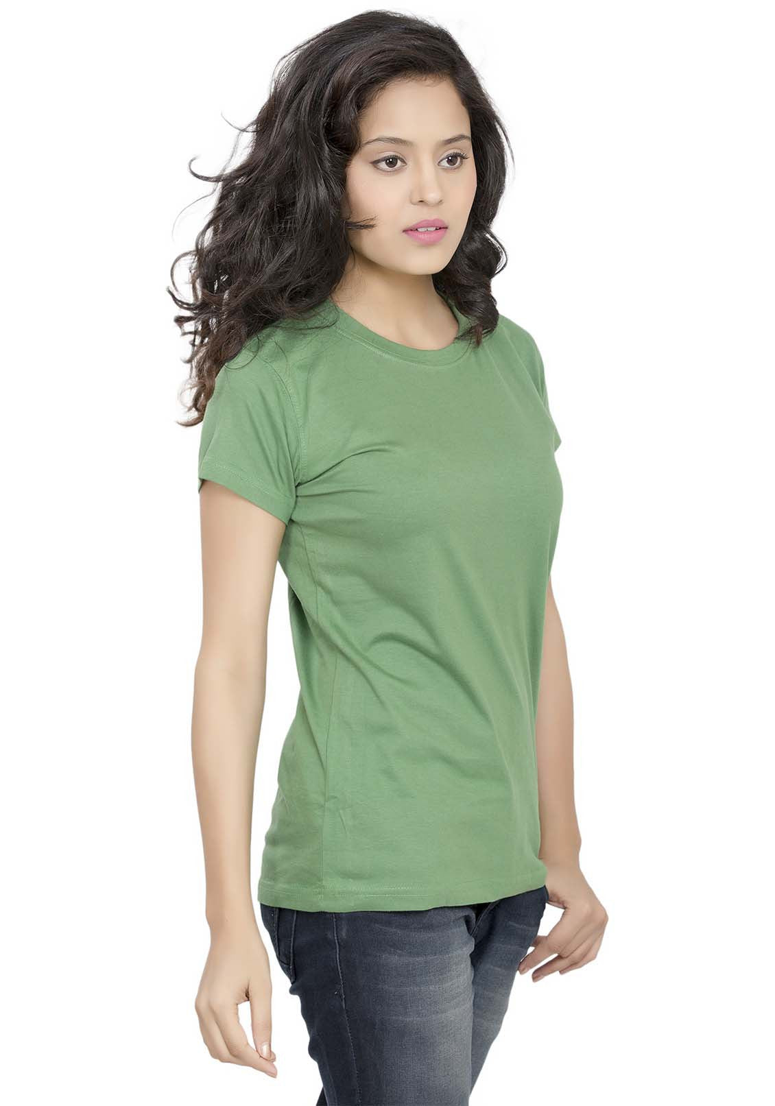 6bbe76aee Ladies Plain Green T Shirt - DREAMWORKS