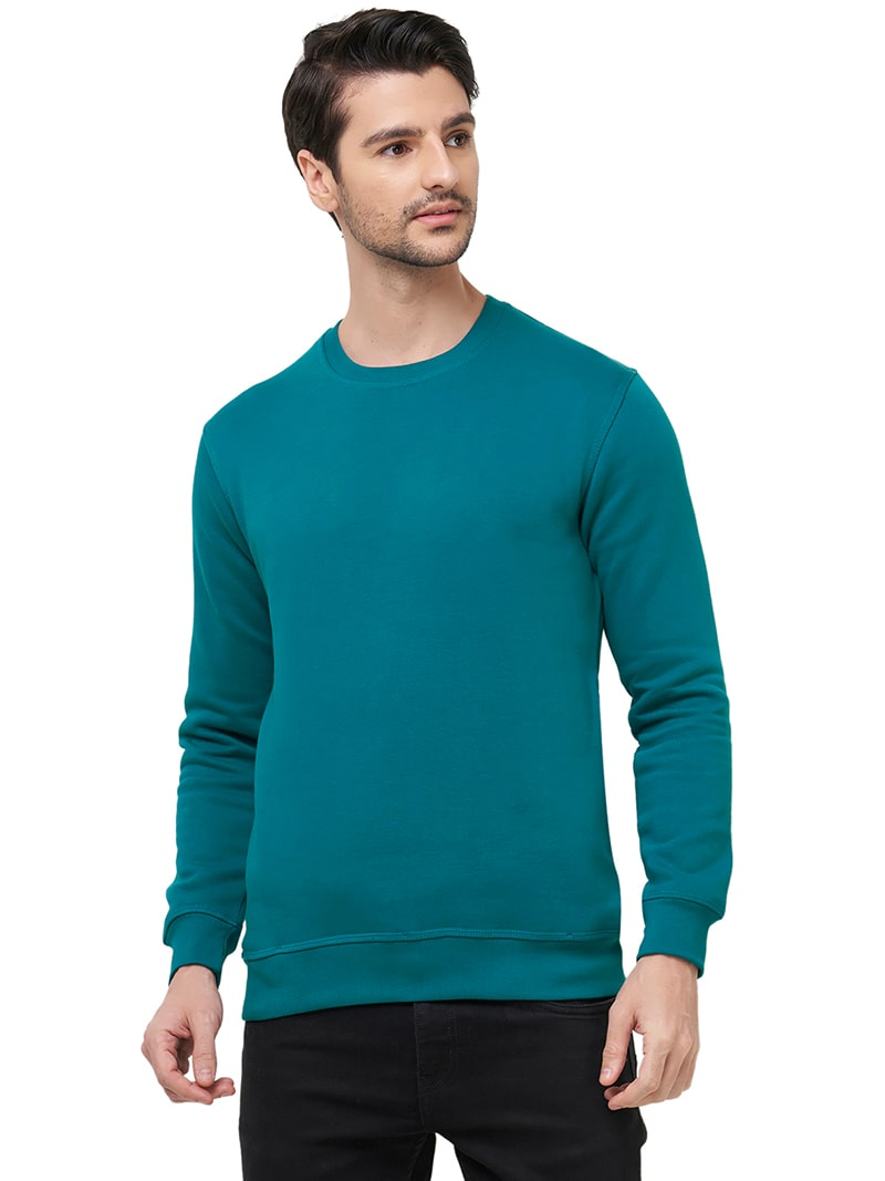 Premium Plain Sweatshirt - Peacock