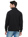 Premium Men's T- Neck Sweatshirt - Black