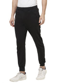 Plain Joggers With Zip - Black