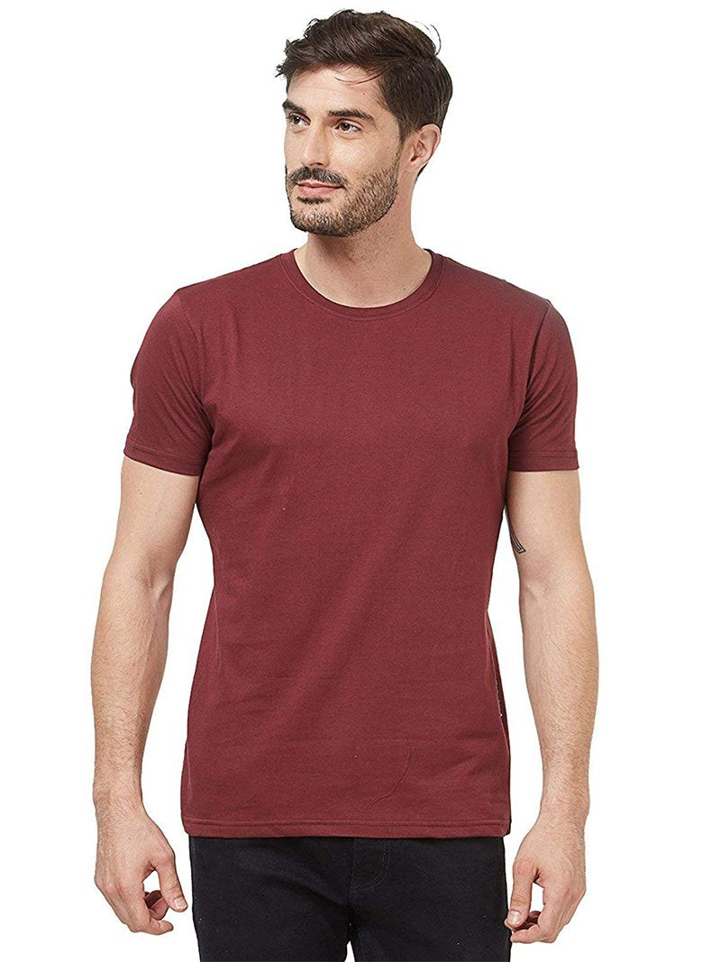 Plain Men's Tshirt - Wine