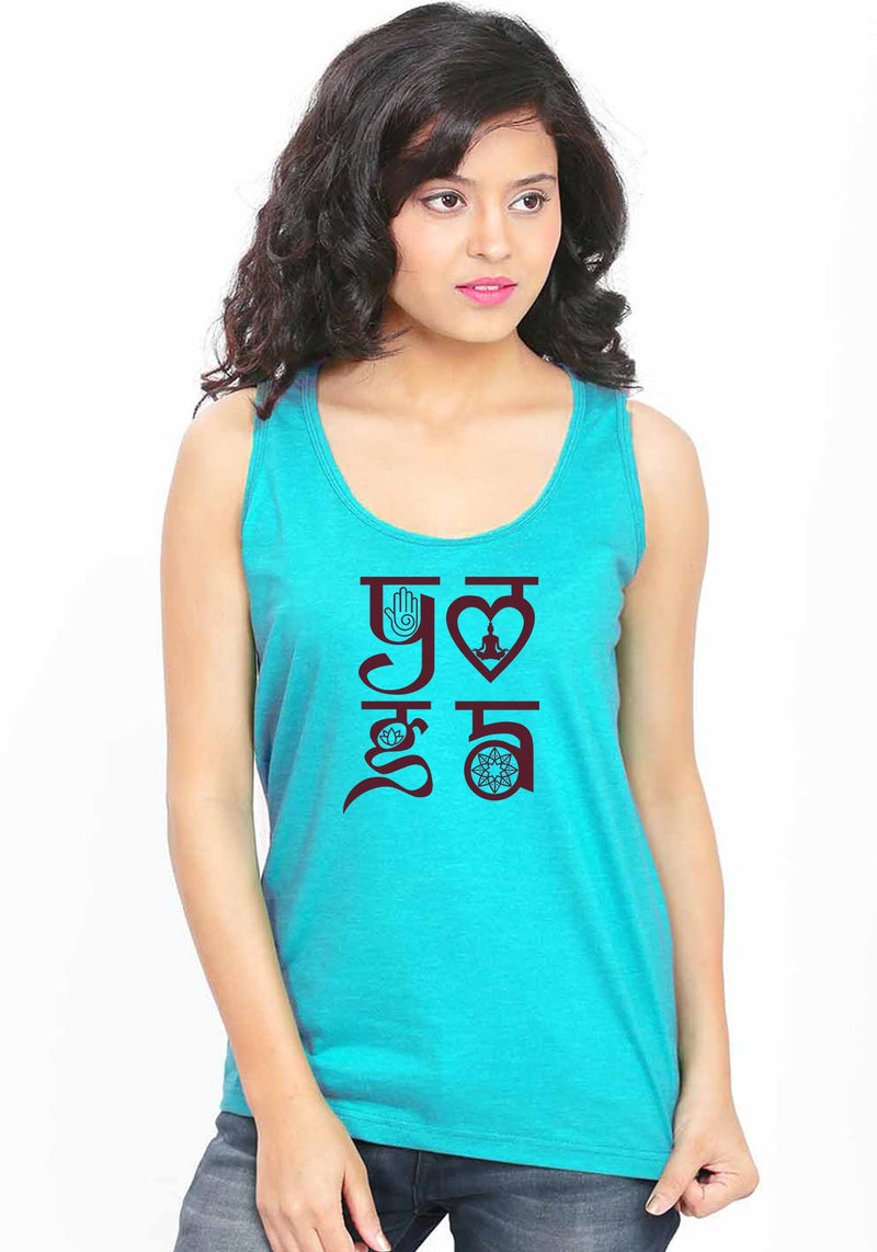 Yoga Symbol Sleeveless T-Shirt - Wear Your Opinion - WYO.in  - 1