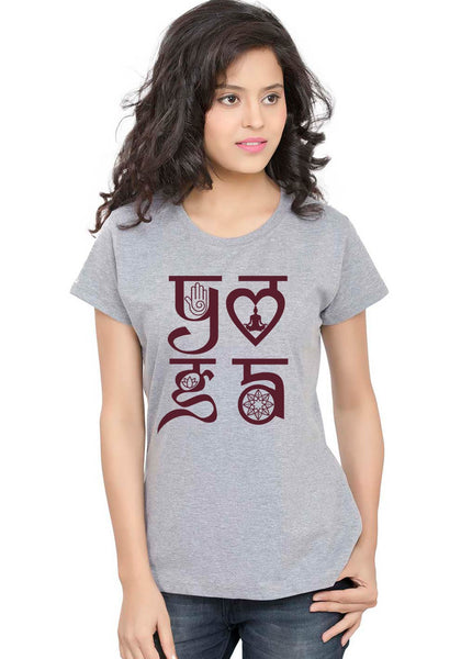 Yoga Symbol Women TShirt - Wear Your Opinion - WYO.in  - 1