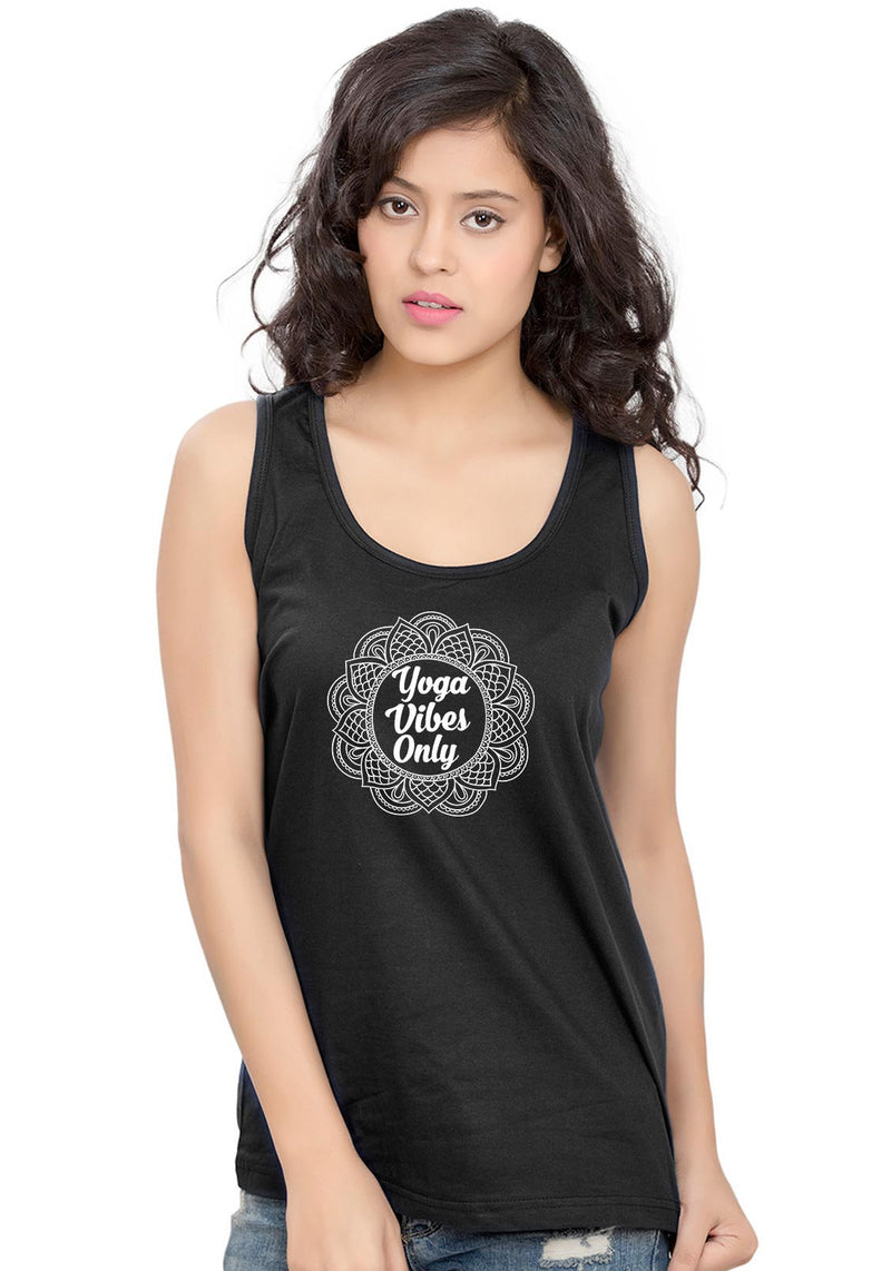 Yoga Vibes Sleeveless T-Shirt - Wear Your Opinion - WYO.in  - 1