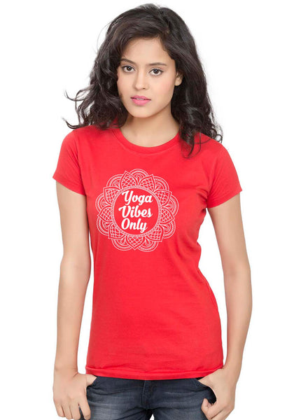 Yoga Vibes Women TShirt - Wear Your Opinion - WYO.in  - 2