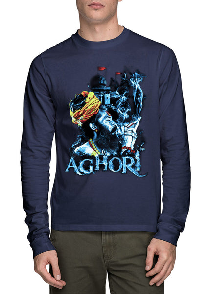Aghori Mens Full Sleeve T-Shirt - Wear Your Opinion - WYO.in  - 1