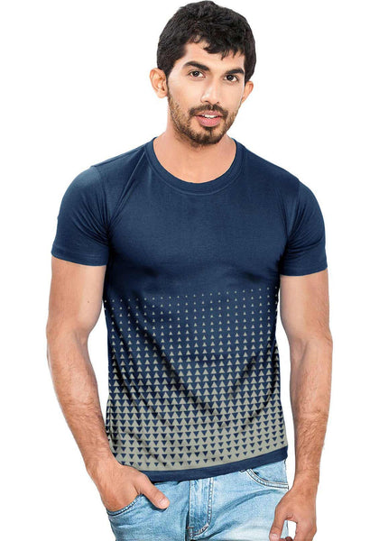 Men Delta All Over Navy & Grey T-Shirt - Wear Your Opinion - WYO.in