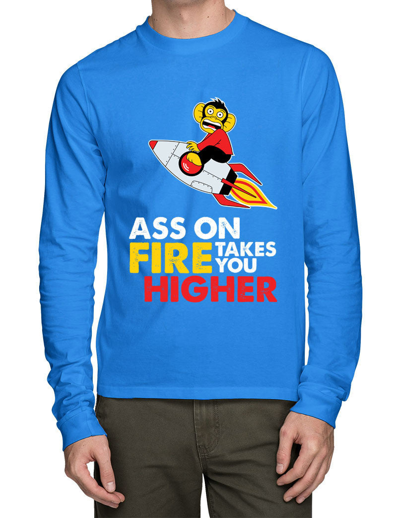 Ass On Fire Full Sleeve T-Shirt - Wear Your Opinion - WYO.in  - 1