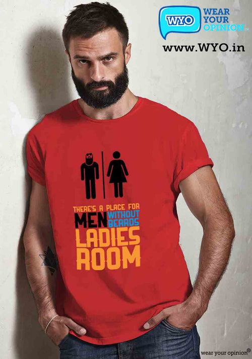 Beard Room T-Shirt - Wear Your Opinion - WYO.in  - 1