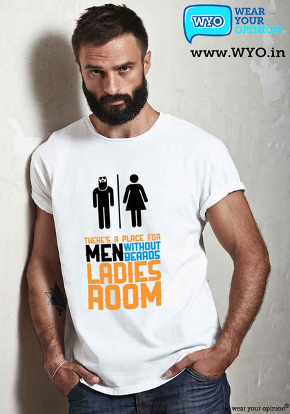 Beard Room T-Shirt - Wear Your Opinion - WYO.in  - 6