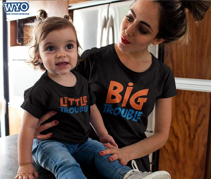 Trouble - Mother And Daughter T-Shirts