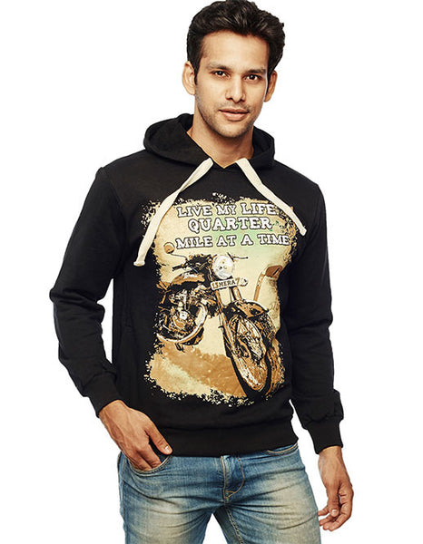 Bikers Love Front Print Sweatshirt - Wear Your Opinion - WYO.in  - 1