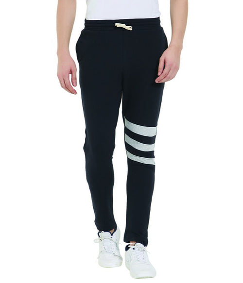 Black Knee Stripe Jogger