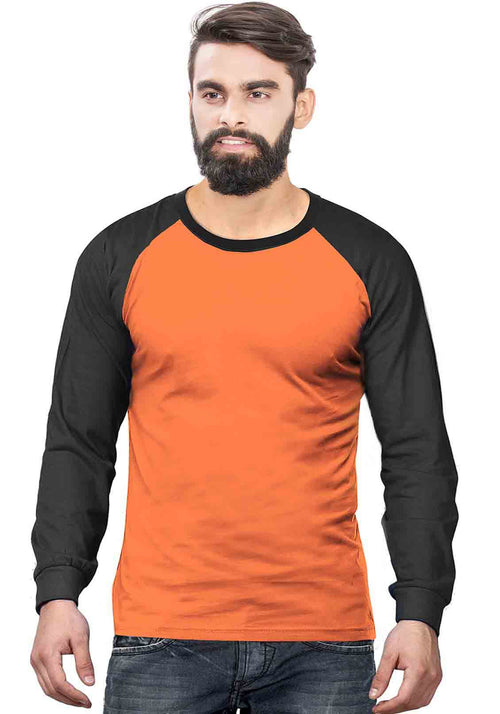 Black - Orange Raglan Full Sleeve