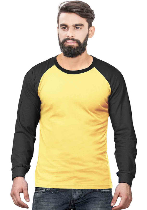 Black - Yellow Raglan Full Sleeve