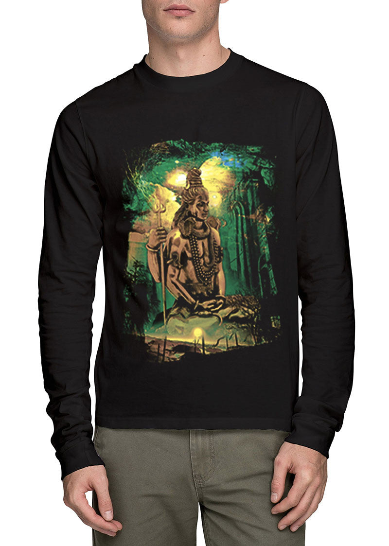 Lord Shiva Full Sleeve T-Shirt - Wear Your Opinion - WYO.in  - 1